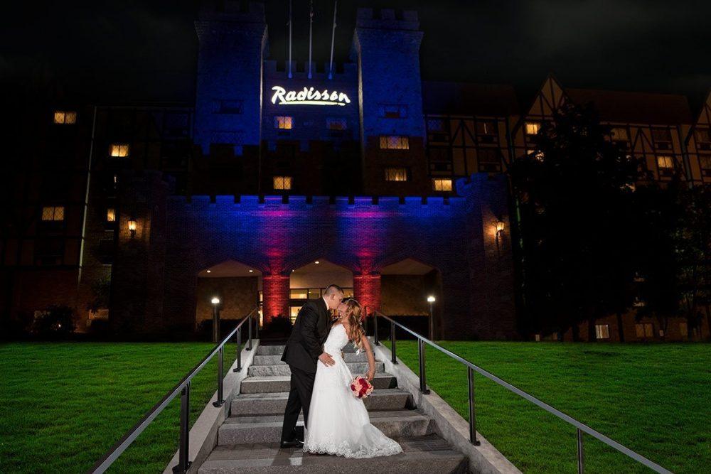 Radisson Castle Wedding Night Shot