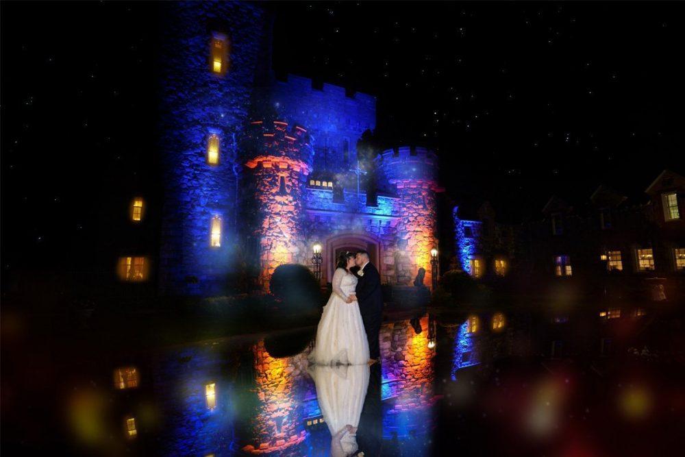 Searles Castle Wedding Night Shot