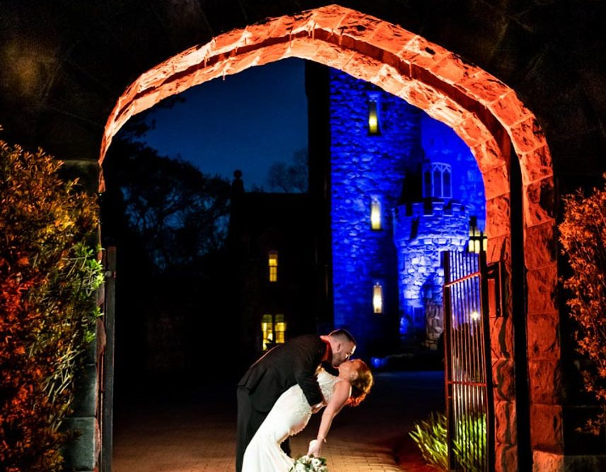 Searles Castle Wedding Night Shot